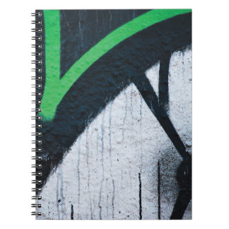 Abstract trendy graffiti close up photographic art spiral note books