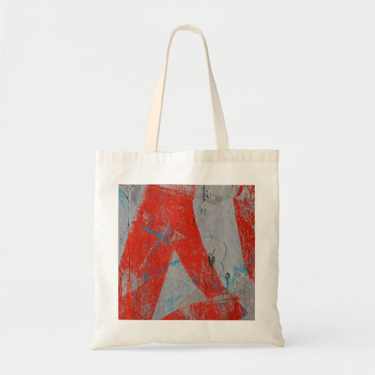 Abstract trendy graffiti close up photographic art tote