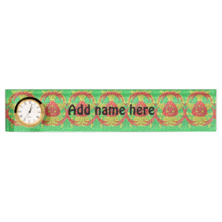 Abstract trendy pattern name plate