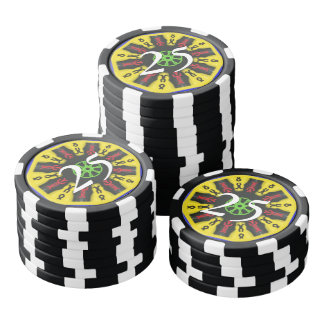 Abstract trendy pattern poker chips