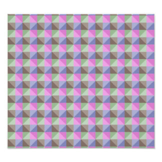 Abstract triangle and square pattern photo art