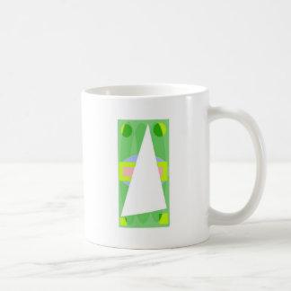 Abstract Triangle Basic White Mug