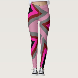 Abstract triangle leggings