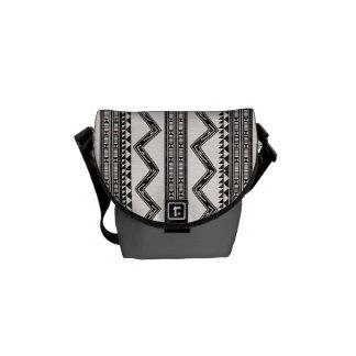 Abstract Triangle Messenger Bag