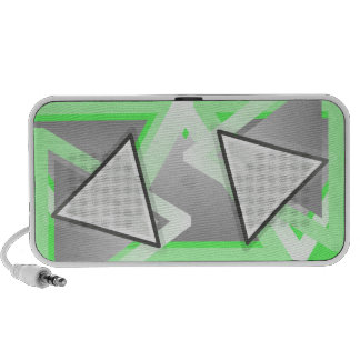 Abstract triangle speakers