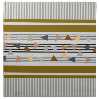 Abstract Triangles and Stripes Napkin