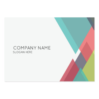 Abstract Triangles Corporate Business Card