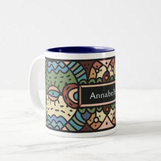 Abstract tribal art mug