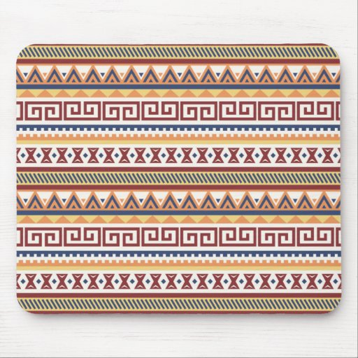 Abstract Tribal Aztec Navajo Pattern Mouse Pad