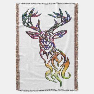 Abstract Tribal Deer Throw Blanket