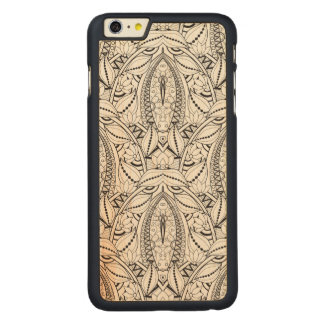 Abstract Tribal Doodle Carved® Maple iPhone 6 Plus Case