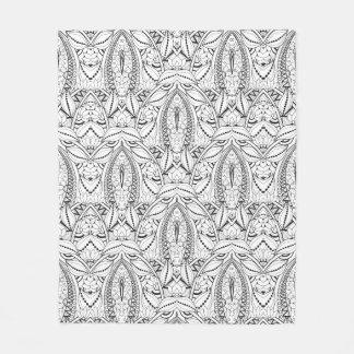 Abstract Tribal Doodle Fleece Blanket