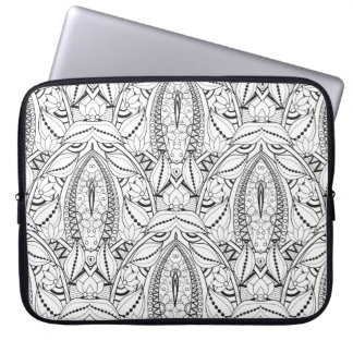 Abstract Tribal Doodle Laptop Sleeve