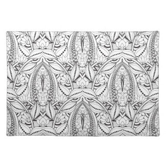Abstract Tribal Doodle Placemat
