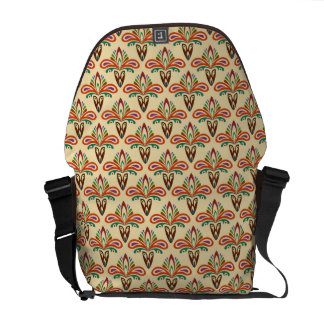Abstract Tribal Pattern Messenger Bag