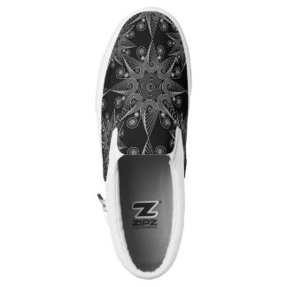 Abstract tribal snowflake design, mandala sun symb Slip-On shoes