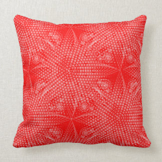 Abstract tribal snowflake with halftones cushion