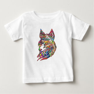 Abstract Tribal Wolf Baby T-Shirt