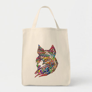 Abstract Tribal Wolf Tote Bag