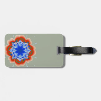 Abstract Tropical Blue Flower Plant Luggage Tag