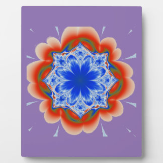 Abstract Tropical Blue Flower Plant Plaque