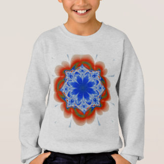Abstract Tropical Blue Flower Plant Sweatshirt