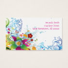 Abstract Tropical Flowers and Swirls Business Card