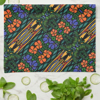 Abstract Tropical Pattern Tea Towel