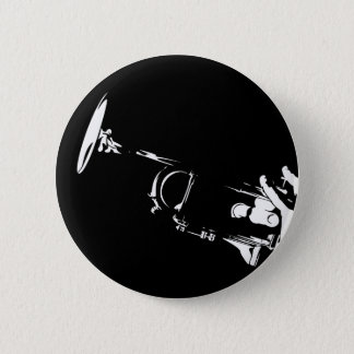 Abstract Trumpet Button Badge