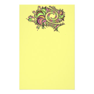Abstract Tube Colorful Design Stationery Paper