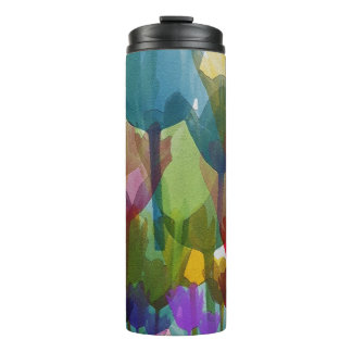 Abstract Tulip Garden Thermal Thermal Tumbler