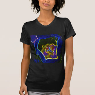 Abstract Tulip ladies petite t-shirt