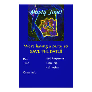 Abstract Tulip party invitation 14 Cm X 21.5 Cm Flyer
