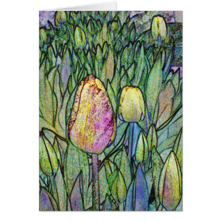 Abstract Tulips Greeting Card