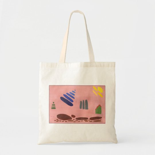 Abstract Tulips on a handy little bag.