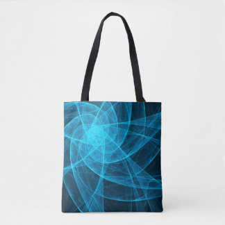 Abstract Tulle Star Computer Art in Blue Tote Bag
