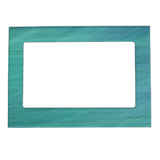 Abstract turquoise magnetic frame
