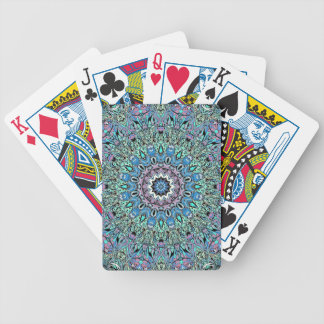 Abstract Turquoise Mandala Bicycle Playing Cards