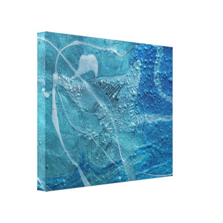 abstract turquoise texture canvas print