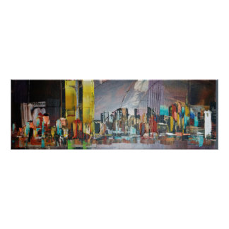 Abstract Twin Towers 9/11 Poster