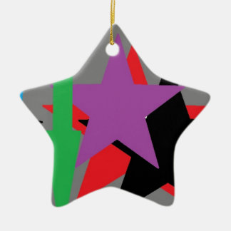 ABSTRACT TWO CERAMIC STAR DECORATION