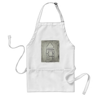 Abstract Two Line House Illustration Standard Apron