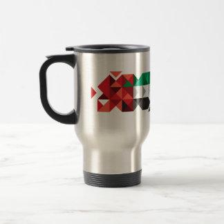 Abstract UAE Flag, United Arab Emirates Mug