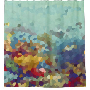Abstract Under The Sea Shower Curtain