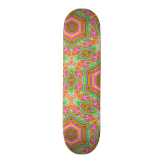 Abstract unique pattern skate board