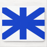 Abstract United Kingdom Flag Mouse Pad