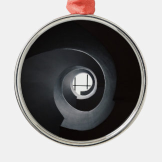 Abstract urban Silver-Colored round decoration