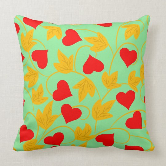 Abstract Vector floral background hearts Cushion