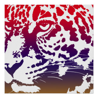 Abstract Vector - Leopard Poster