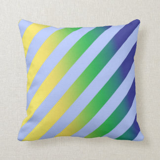Abstract vector striped cushion